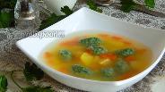 Фото рецепта Овощной суп с галушками из шпината