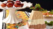 Фото рецепта Полосатая творожная пасха