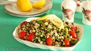 Фото рецепта Салат из чечевицы и макарон