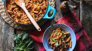 Фото рецепта Паста с баклажанами, базиликом и сливками