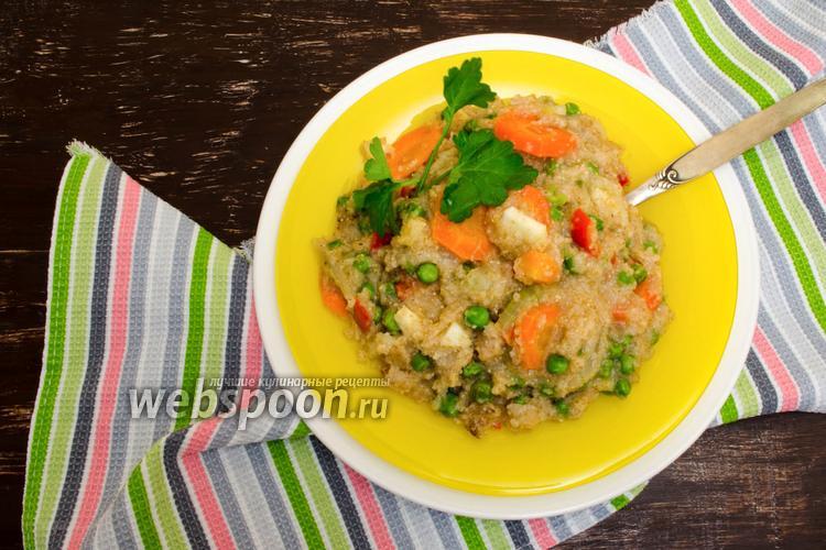 Фото Пшеничная каша с овощами