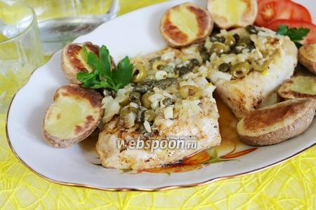 Рыба с оливками и каперсами
