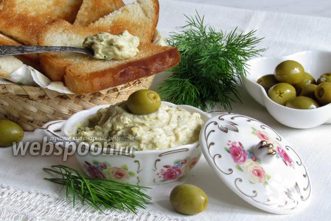 Фото Бутербродная паста с оливками