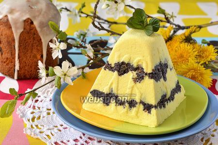 Лимонно-маковая творожная пасха