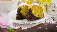 Фото рецепта Кекс с маком и вишней