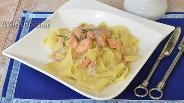 Фото рецепта Папарделле с лососем