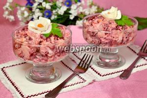 Салат с копчёной мойвой