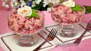 Фото рецепта Салат с копчёной мойвой