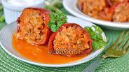 Фото рецепта Перец начинённый фаршем с морковью