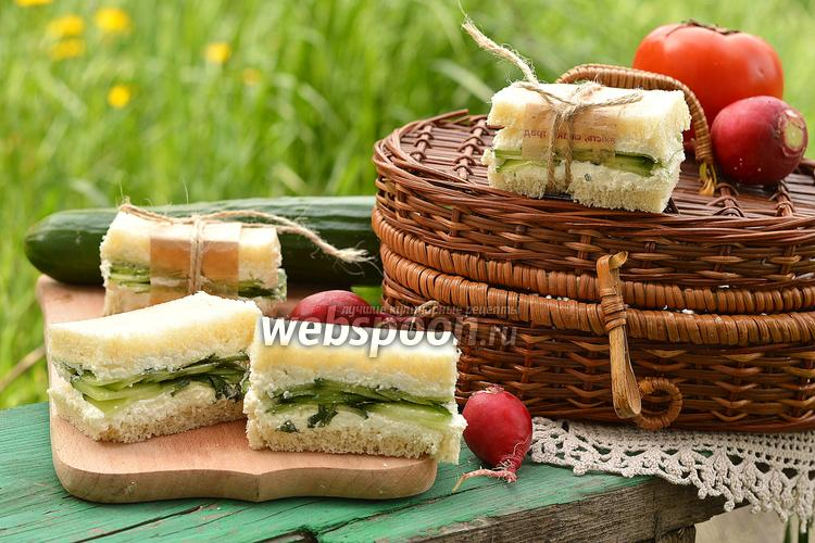 Фото Сэндвич с огурцами