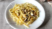 Фото рецепта Феттучини с мидиями в сливочно-ореховом соусе