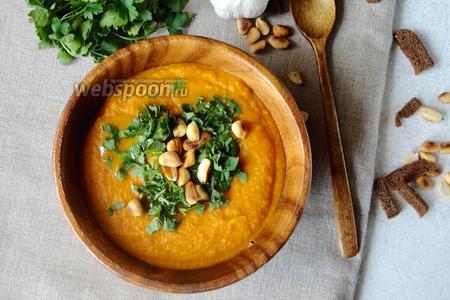Картофельный крем-суп с арахисом