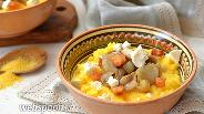 Фото рецепта Банош с брынзой и грибами