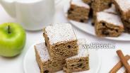 Фото рецепта Цельнозерновой пирог с яблоком, корицей и вяленой черникой