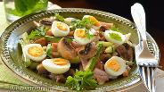 Фото рецепта Салат из ветчины с шампиньонами