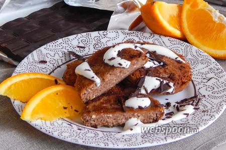 Апельсиново-шоколадные сырники