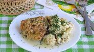 Фото рецепта Куриные бёдрышки с цветной капустой в аэрогриле