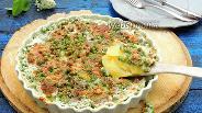 Фото рецепта Картофельный гратен с зелёным горошком