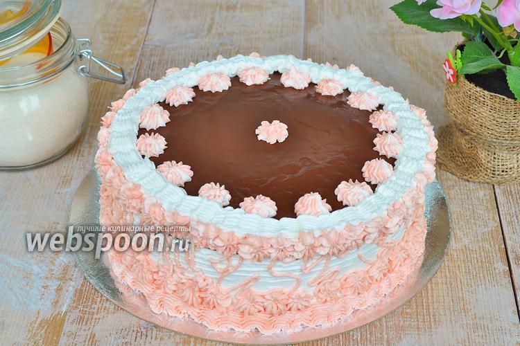 Фото Шоколадный торт со сливочным кремом