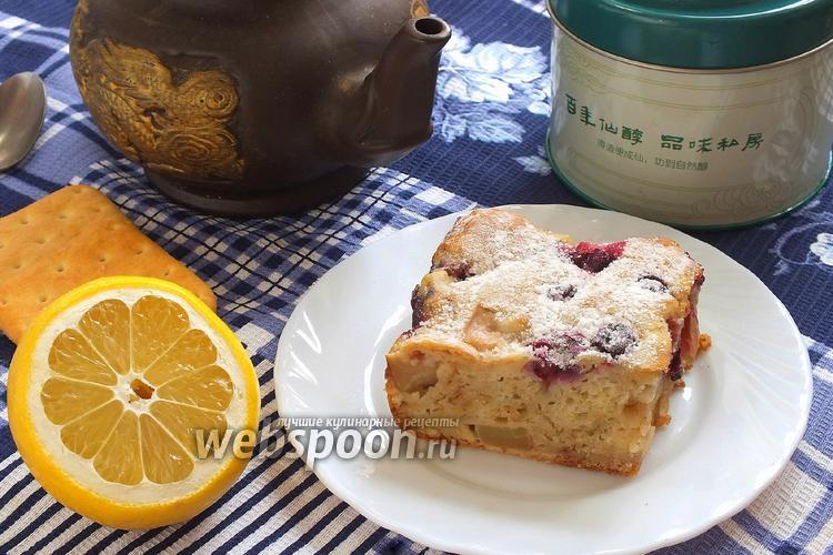 Фото Пряный кефирный пирог с яблоками