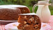 Фото рецепта Карамельно-ореховый пирог в мультиварке