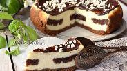 Фото рецепта Сырник с шоколадным печеньем в мультиварке