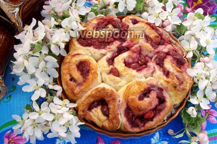 Фото Вишнёвый пирог на творожном тесте