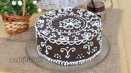 Фото рецепта Шоколадный торт «Кружева»