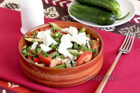 Греческий салат с перловкой и мятой