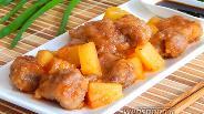 Фото рецепта Свинина с ананасами в кисло-сладком соусе