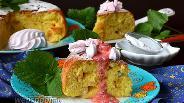 Фото рецепта Творожный пирог с кусочками зефира в мультиварке