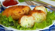 Фото рецепта Зразы рыбные с яйцом и сыром