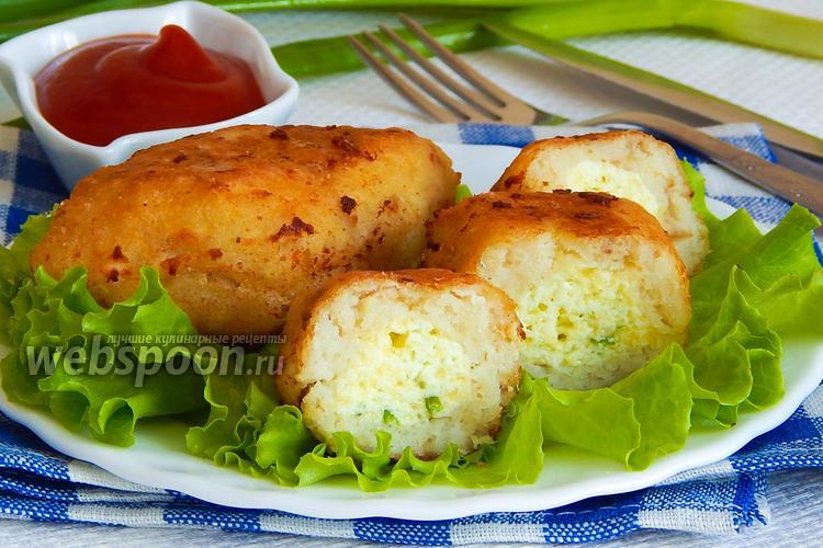 Фото Зразы рыбные с яйцом и сыром