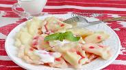 Фото рецепта Сладкие вареники с творогом на молоке