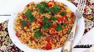 Фото рецепта Булгур с овощами и сыром