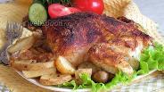 Фото рецепта Курица в горчичной шубке с молодым картофелем
