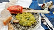 Фото рецепта Луково-картофельное пюре с ветчиной
