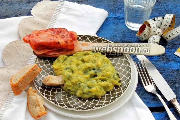 Фото Луково-картофельное пюре с ветчиной