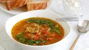 Фото рецепта Чечевичный суп со свининой