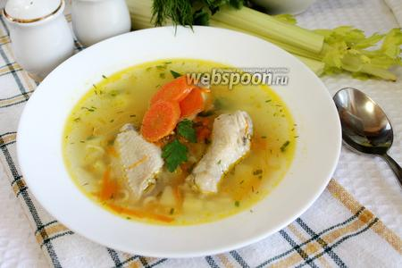 Лёгкий суп с куриными крылышками