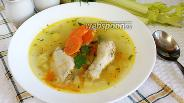 Фото рецепта Лёгкий суп с куриными крылышками