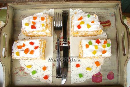 Морковные пирожные со сливками