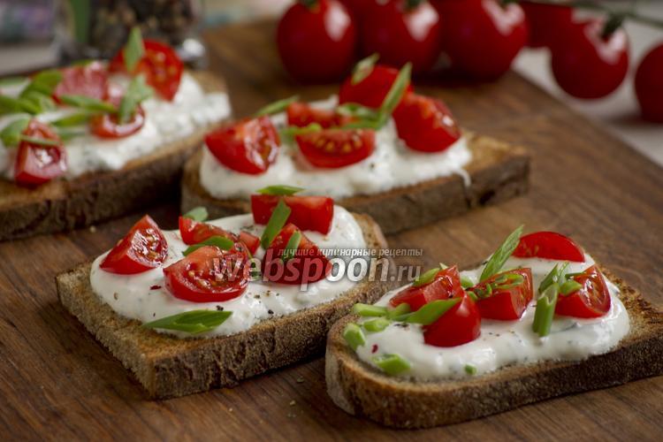 Фото Тосты с помидорами