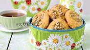 Фото рецепта Творожное печенье с семечками