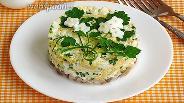 Фото рецепта Закуска из сельди под сырно-яичной «подушкой»