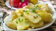 Фото рецепта Молодая картошка, тушёная в бульоне и специях