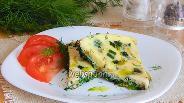 Фото рецепта Зелёный омлет с крапивой