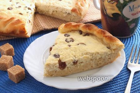 Фото рецепта Открытый пирог с творогом