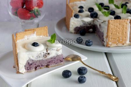 Торт-мороженое с черникой