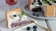 Фото рецепта Торт-мороженое с черникой